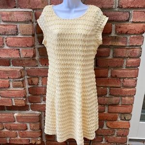 Sharagano Yellow Fit & Flare Dress size 10